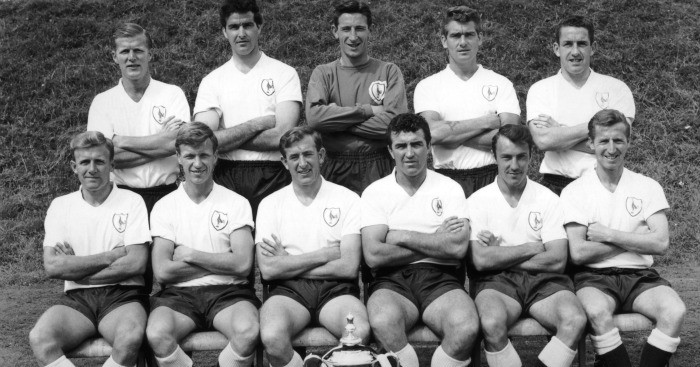 Peter Baker (back row, far left): With Spurs team-mates in 1962