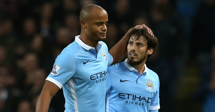 Vincent Kompany and David Silva: Both back in contention