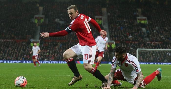Wayne Rooney: Leaves David Edgar on the floor