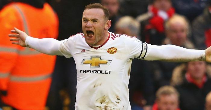 Wayne Rooney: Celebrates his Anfield winner