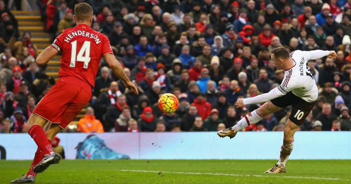 Wayne Rooney: Volleys in United's winner at Anfield