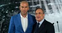 Zinedine Zidane: Poses with Florentino Perez