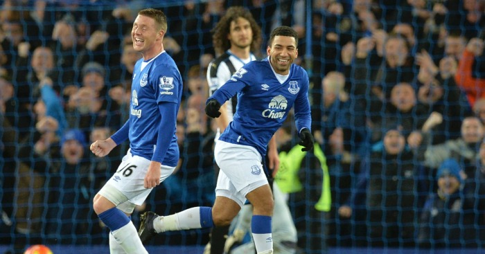 Aaron Lennon: Winger opened the scoring at Goodison Park