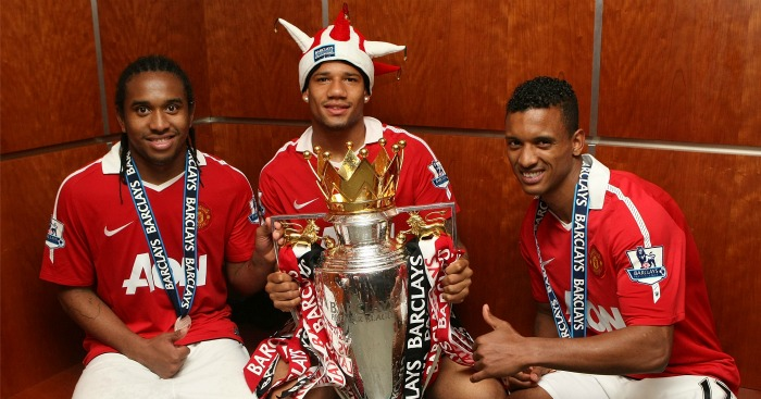 Bebe (centre): Leaked documents reveal what he cost Man Utd