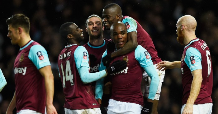 Angelo Ogbonna: Celebrates West Ham's late winner