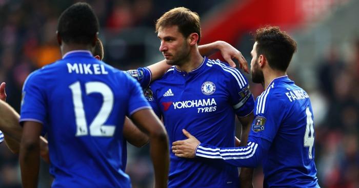 Branislav Ivanovic: Celebrates Chelsea's late winner