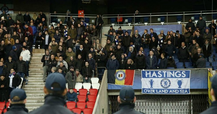 Chelsea fans: Targeted with CS spray at Parc des Princes