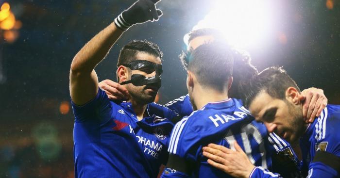 Diego Costa (l): Celebrates his opener