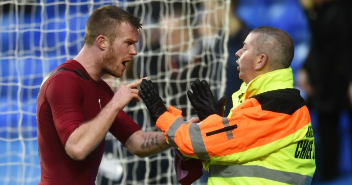 Chris Brunt: Midfielder was hit in face by coin thrown by fan
