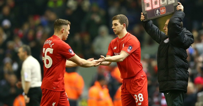 Connor Randall and Jon Flanagan: Among Liverpool's impressive youngsters