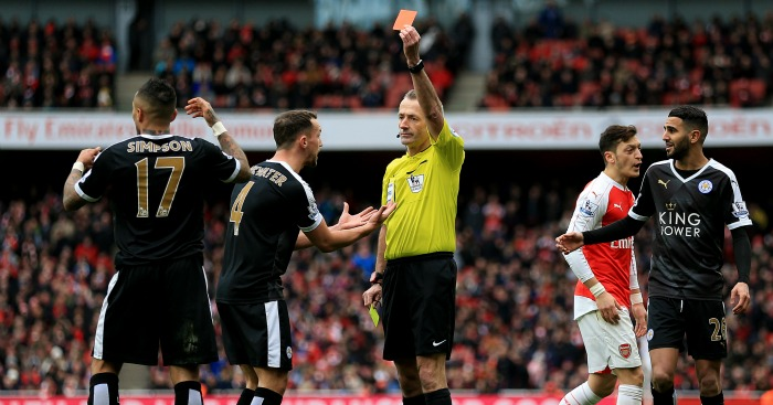 Danny Simpson red card