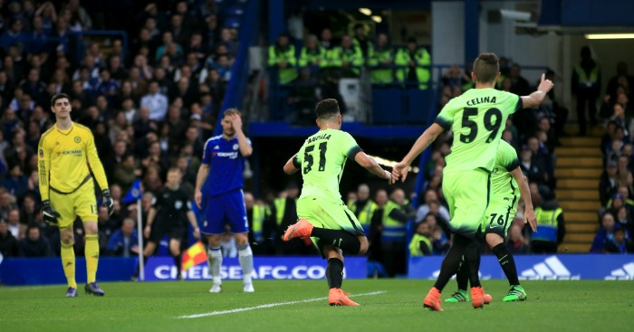 David Faupala: Chelsea fans threw coins after he scored for Man City
