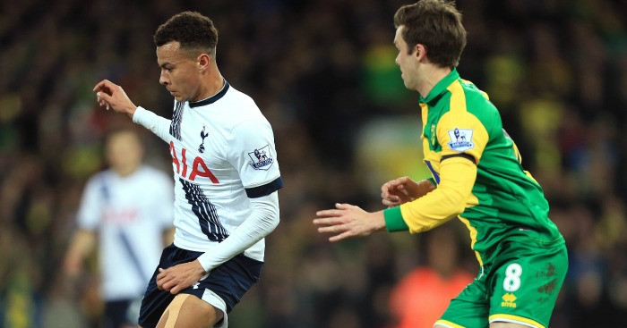 Dele Alli: Watched by Jonny Howson