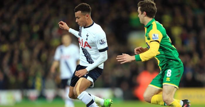 Dele Alli: Midfielder taken off at half-time at Norwich