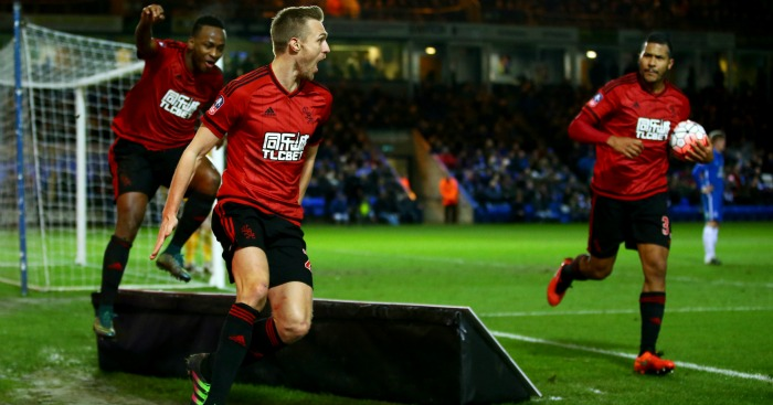 Darren Fletcher: Celebrates thumping in the equaliser