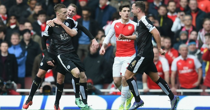 Jamie Vardy Leicester City celebration