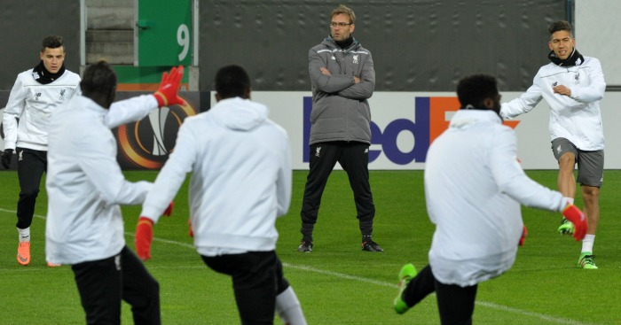 Jurgen Klopp Liverpool training