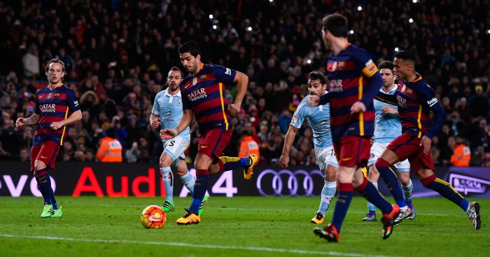 Lionel Messi: Set up Luis Suarez from penalty