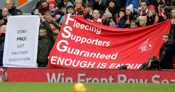 Liverpool fans: Won their battle against ticket prices