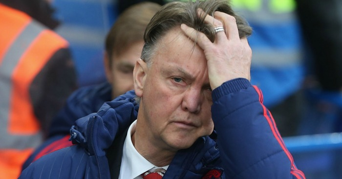 Louis van Gaal: Shows his frustrations at Stamford Bridge