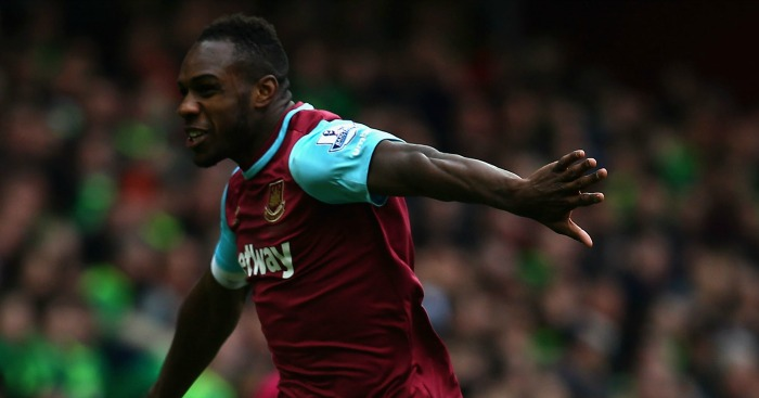 Michail Antonio: Celebrates West Ham's goal