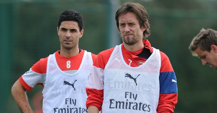 Mikel Arteta & Tomas Rosicky: Out of contract in the summer