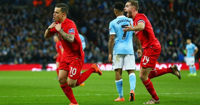 Philippe Coutinho Liverpool v Manchester City