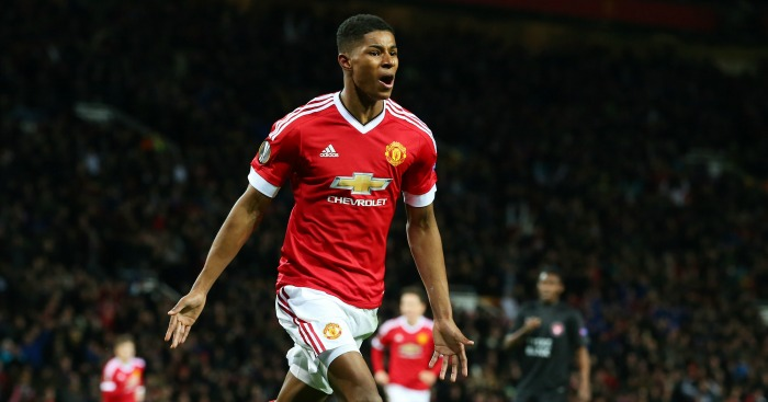 Marcus Rashford: Scored two goals on first-team debut