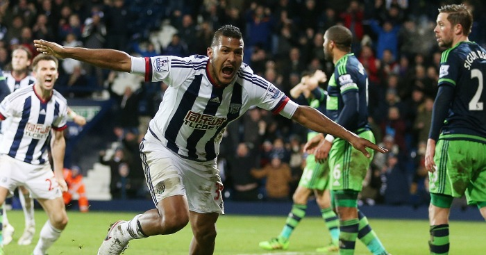 Salomon Rondon: Celebrates West Brom's late leveller