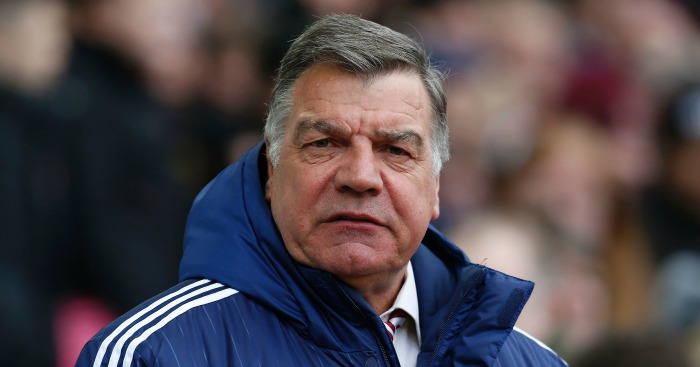 Sam Allardyce: Watches the action at Upton Park