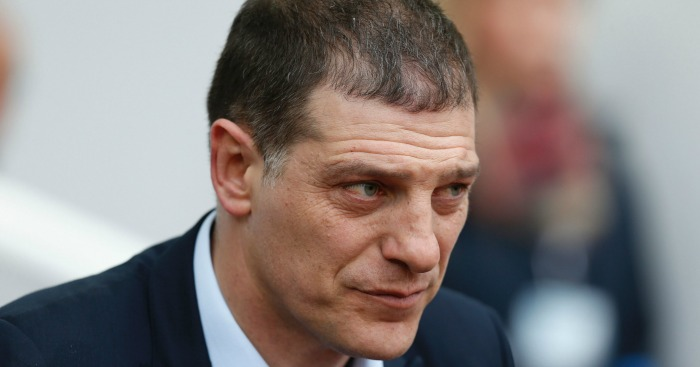 Slaven Bilic: Watches the action at Upton Park