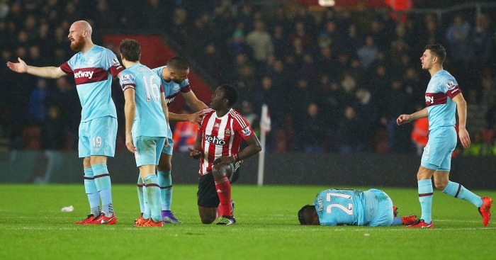 Victor Wanyama: Sent off four fouling Dimitri Payet