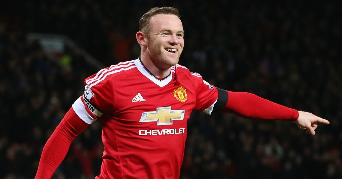 Wayne Rooney: Celebrates his goal for Man United