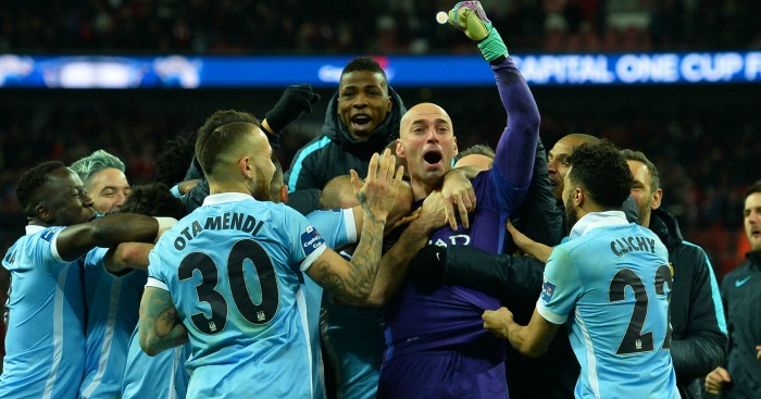 Willy Caballero: Enjoys his part in City's Wembley win