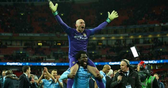 Willy Caballero Wilfried Bony Manchester City