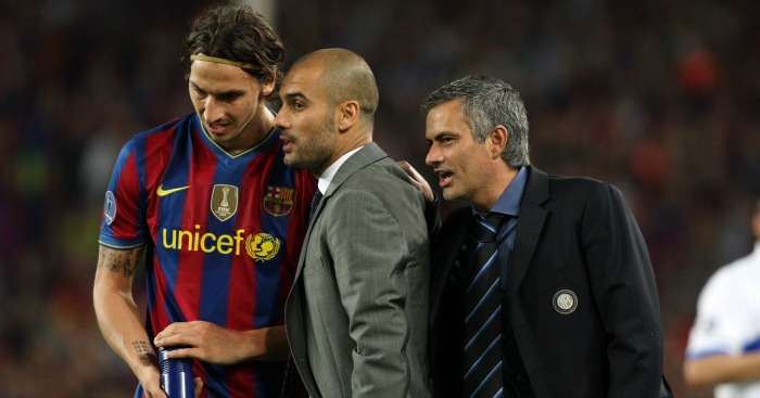 Pep Guardiola: Gives instructions to Zlatan Ibrahimovic