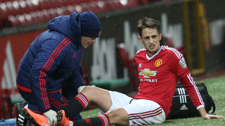 Adnan Januzaj: Receives treatment on his hamstring