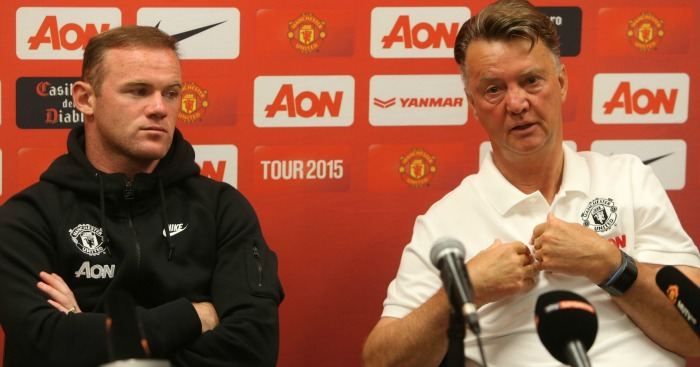 Louis van Gaal (r): Disagreed with Wayne Rooney