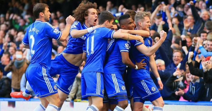 Chelsea: celebrate Andre Schurrle's goal