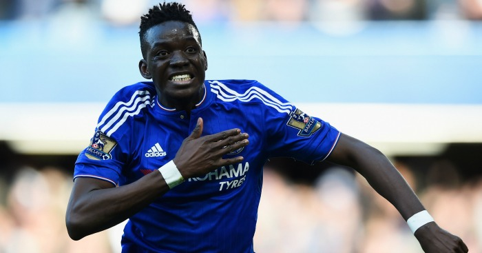Bertrand Traore: Celebrates his goal for Chelsea