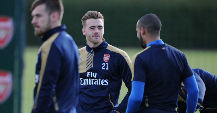 Calum Chambers: In training with Arsenal on Monday