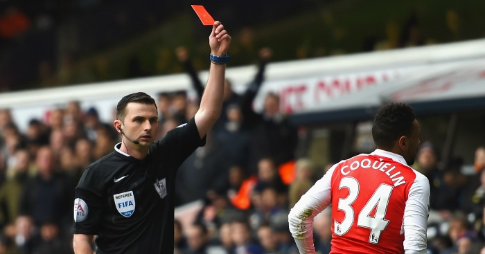 Francis Coquelin: Red carded