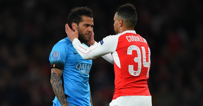 Dani Alves: Says Barcelona were relieved to draw Arsenal