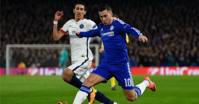 Eden Hazard: Swapped shirts with Di Maria