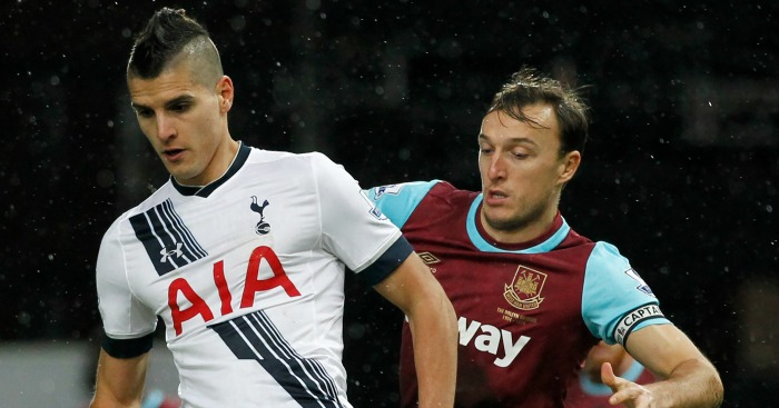 Erik Lamela: Tracked by Mark Noble