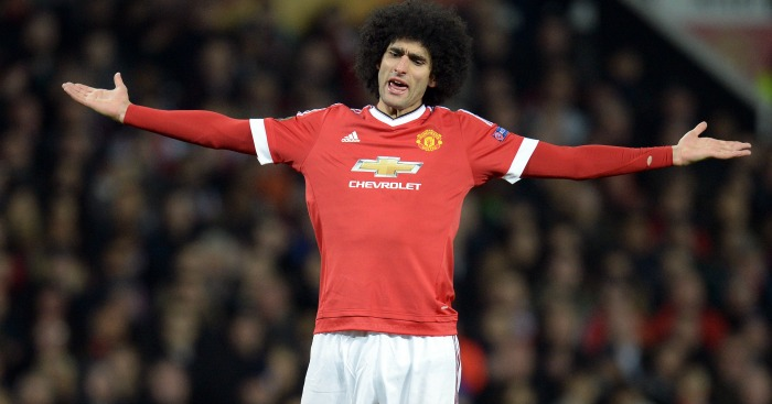 Marouane Fellaini: Defended by Roy Keane