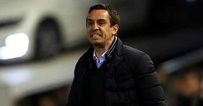Gary Neville: Not happy
