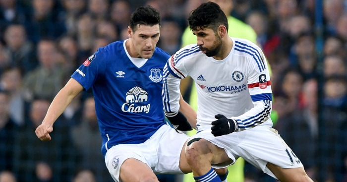 Gareth Barry: Keeps a close eye on Diego Costa