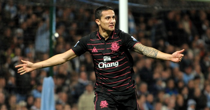 Tim Cahill: Scored the first goal in Everton's 2-0 victory at City