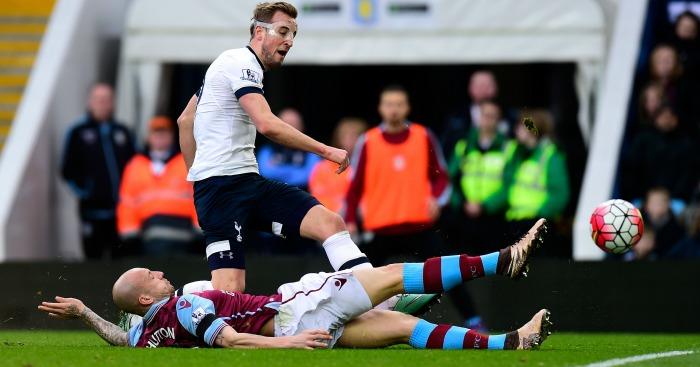 Harry Kane scores Aston Villa v Tottenham
